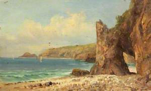 A Beach with Red Cliffs