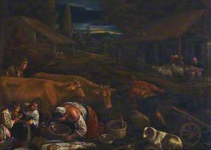 Farmyard Scene with the Parable of the Sower
