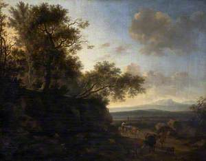 Landscape with a Huntsman and Cattle