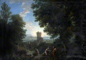 Classical Landscape with Ruins and Figures