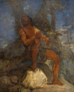Saint John the Baptist Praying in the Wilderness
