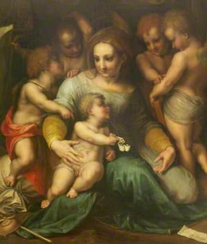 The Madonna and Child with the Infant Saint John the Baptist and Angels (The 'Madonna Corsini')