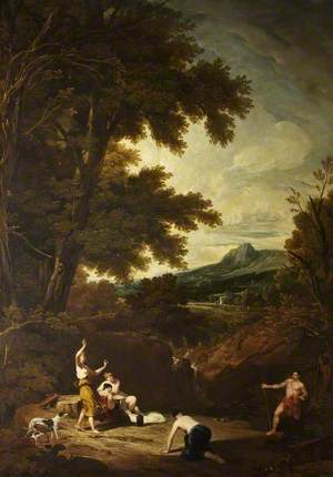 Classical Landscape with Diana and Actaeon