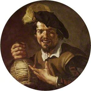 A Man with a Wine Flask