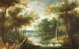 Landscape with a Stag Hunt