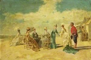 Women on Deauville Beach