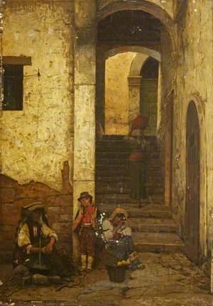 A Street Scene in San Germano
