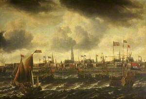 A View of Amsterdam Seen from the River Ij