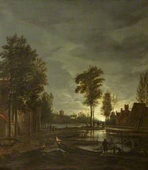 A Moonlit River Scene
