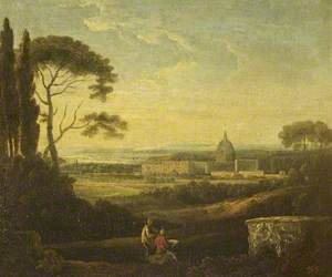 A Distant View of St Peter's, Rome