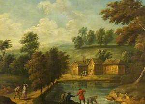 Landscape with a Fishing Scene