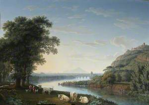Capriccio View of the River Volturno with Monte Epomeo beyond