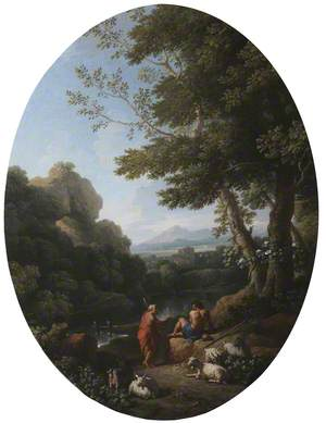 A Classical Landscape with Two Shepherds and Sheep