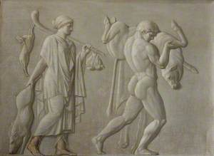 Autumn (or Winter) and Theseus (or Hercules) Carrying a Bull