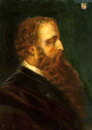 Edward Heneage Dering (1826–1892), in Profile to the Right