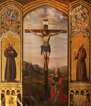 Triptych with Christ Crucified with Saint Mary Magdalen and Saints Francis and Anthony of Padua
