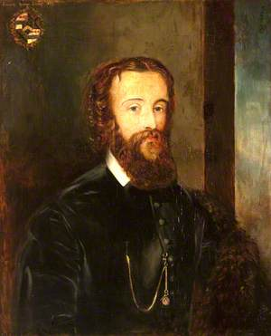 Edward Heneage Dering (1826–1892), Half-Length, by a Window