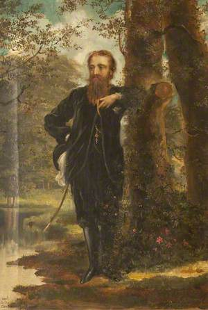 Edward Heneage Dering (1826–1892), in the Grounds of Baddesley Clinton