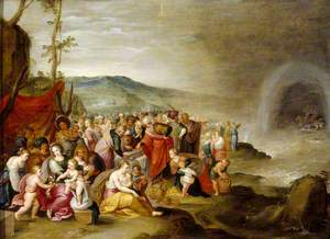 The Israelites after the Crossing of the Red Sea, with Joseph's Corpse in the Tomb