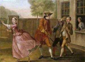 The Elopement: Pamela Flying to the Coach, While Lady Danvers Sends Two of Her Footmen to Stop Her