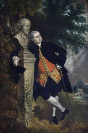 David Garrick (1717–1779), with a Bust of Shakespeare
