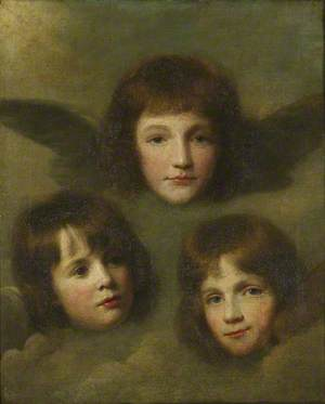 The Three Daughters of the Reverend Sir Herbert Croft (1748–1816), 5th Bt, as Cherubim