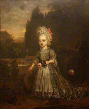Portrait of a Small Girl in a Garden