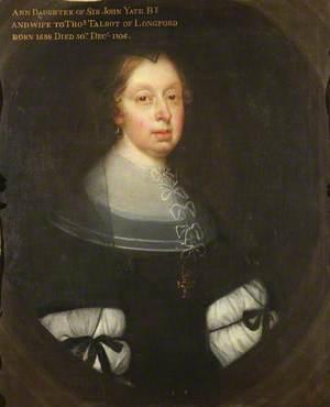 Anne Yate (1638–1706), Mrs Thomas Talbot