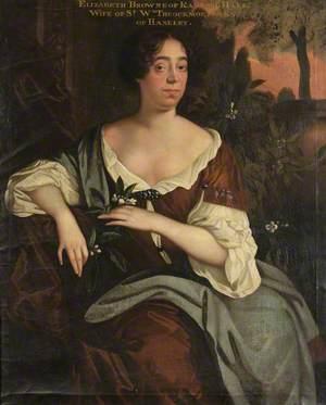 Elizabeth Browne of Radford Hall, Lady Throckmorton of Fullbrook