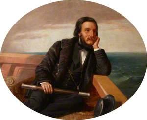 Edward Ward (1827–1881), 4th Viscount Bangor, on a Yacht