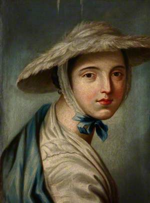A Young Woman in a Feather Hat