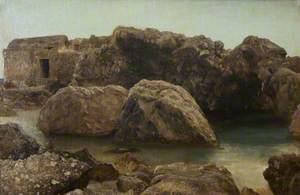 Stone Hut on a Rocky Coast