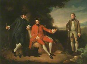 William Weddell (1736–1792), the Reverend William Palgrave (c.1735–1799), and Mr I'Anson in Rome