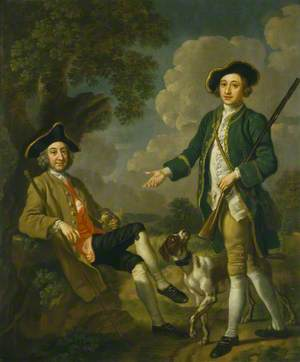 Two East Anglian Gentlemen with a Pointer