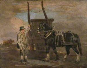 A Farmer with a Horse and Cart