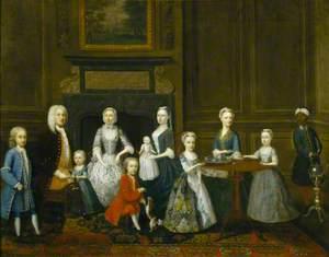 Thomas Smith (1699/1700–1744), and His Family at Tea