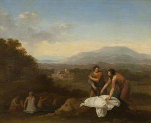 A Classical Landscape with Women Bathing