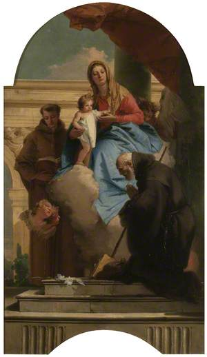 The Madonna Appearing to Saint Anthony of Padua and Saint Francis of Paula