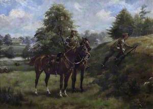 Soldiers of the West Kent Imperial Yeomanry Practising in Mote Park, Maidstone