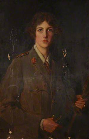 The Honourable Edith Helen Chaplin (1878–1959), Marchioness of Londonderry, DBE, in the Uniform of the Women's Legion