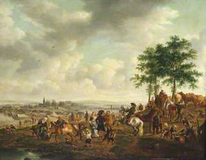 Landscape with a Horse Fair