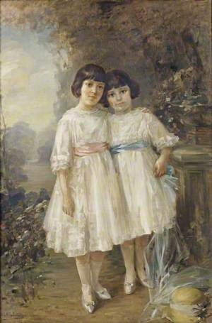 The Honourable Louise Fermor-Hesketh (1911–1994), Later Lady Stockdale, and Her Sister the Honourable Flora Breckinridge Fermor-Hesketh (1913–1969), Later Lady Revelstoke, as Children