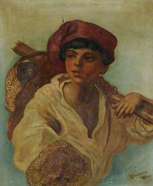 A Young Boy in a Red Cap
