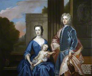 Thomas Hesketh (1698–1735), MP, His Wife Martha St Amand (d.1782), Mrs Thomas Hesketh, and a Son