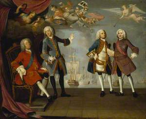 An Allegorical Set of Portraits Commemorating the Victory at Quiberon Bay in 1759