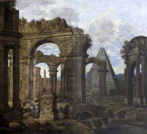 Capriccio: Antique Ruins with a Pyramid