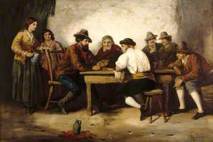 Peasants Playing Cards in a Tavern