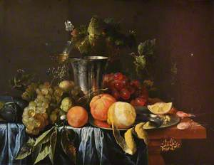 Still Life with a Silver Jug and Fruit