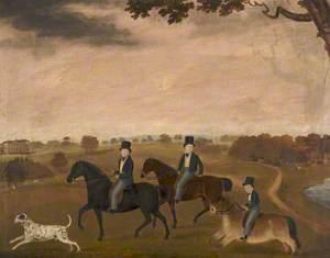 William Tatton Egerton (1806–1883), 1st Baron Egerton of Tatton, and His Two Brothers Riding in Tatton Park