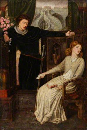 The Theodore Watts-Dunton Cabinet: Hamlet and Ophelia